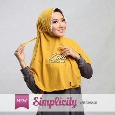 HQo Bergo Hijab Jilbab Kerudung Instan Simplicity - Kuning Kunyit