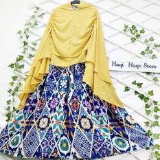 HQo Busana Muslim Gamis Umbrella Wonderland Klok Maxi Cutting 4M (TANPA HIJAB)