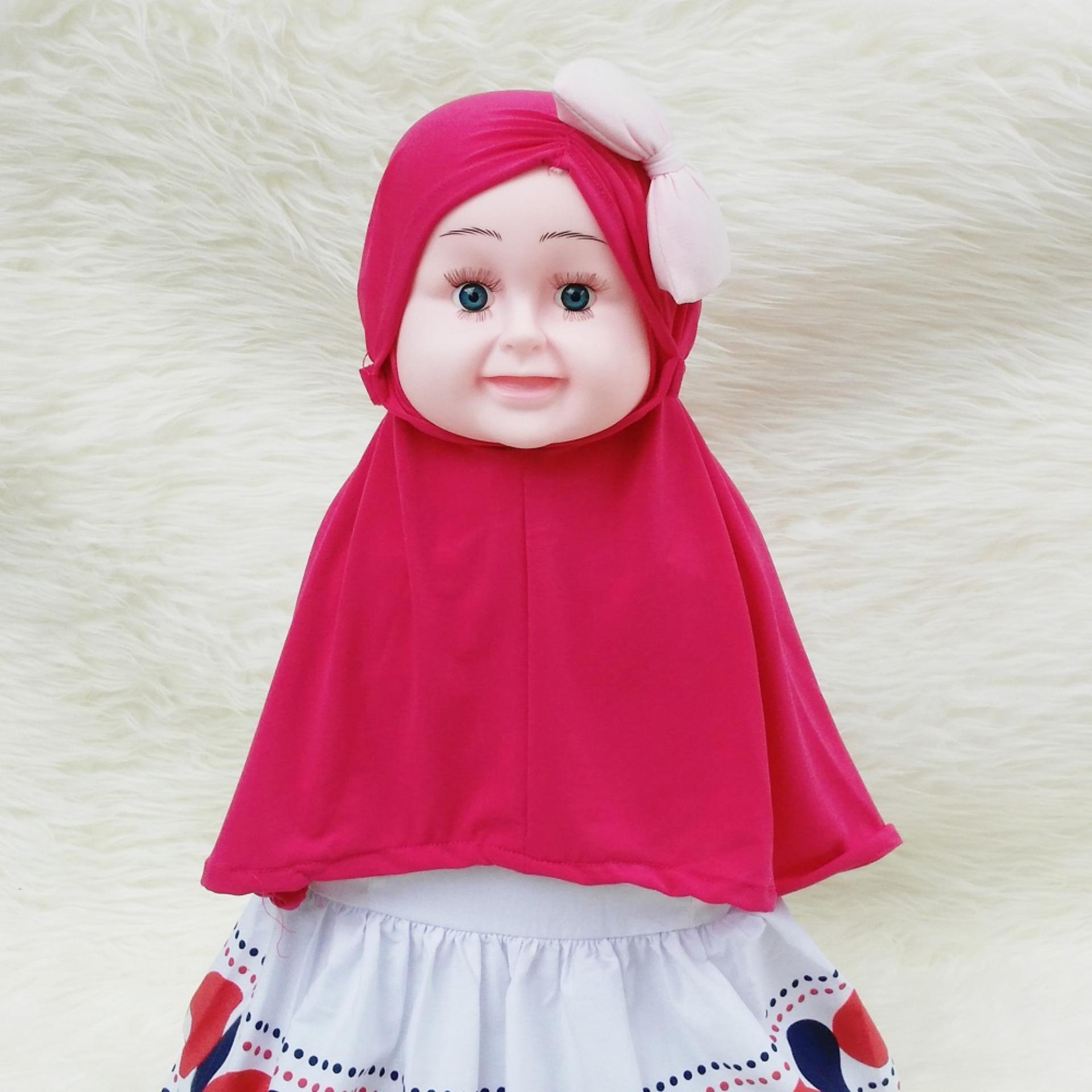 Diskon Hqo Kerudung Anak Bayi Aisyah Kerut Pita Jilbab Anak Bayi