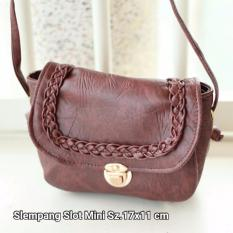 Harga Hqo Shoulder Bag Selempang Slot Mini Tas Wanita Slempang Coklat Satu Set