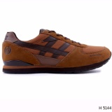 Model Hrcn Hpm 5144 Sepatu Sneakers Pria Bahan Suede Leather Bagus Dan Keren Brown Terbaru