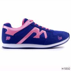Jual Hrcn Hpm 5332 Sepatu Sneakers Wanita Bahan Synth Cantik Dan Keren Blue Branded Murah