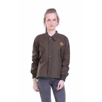 Bandingkan Toko HRCN Jaket Wanita / Women Jacket - Bahan Baby Canvas - Green Barete -