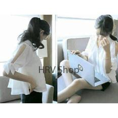 Diskon Hrv Shop Blouse Wanita Lauren Putih Hrv Shop