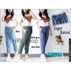 HRV Shop Celana Wanita Jolin - Biru / Celana Casual Wanita / Celana Panjang Wanita / Joger Wanita / Celana Joger