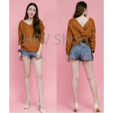 HRV Shop Blouse Wanita Tamani - Coklat / Baju Wanita / Blouse Korea / Atasan Wanita / Baju Formal / Kemeja Wanita / Kemeja Formal / Atasan Muslim / Kemeja Cewek Tunik / Kemeja Kerja