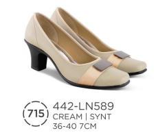 HS Sepatu Casual / Formal Heels Wanita 442-LN 589 Real Pict -Terbaru