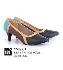 HS Sepatu Casual Heels Wanita 1509-01 Real Pict -Terbaru
