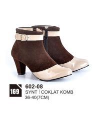 HS Sepatu Casual Heels Wanita 602-08 Real Pict -Super Promo!