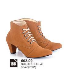 HS Sepatu Casual Heels Wanita 602-09 Real Pict -Promo Terbaru!