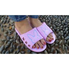 HSSHOPID Sandal Flip Flop Cantik gambar Kelinci Wanita - Ungu