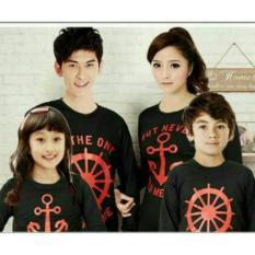H~Shico - Kaos Couple Family 2 Anak  Pd .  JANGKAR STEAUL  Hitam  Kaos Keluarga  Kaos Oblong  T-Shirt