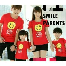 H~Shico - Kaos Couple Family 2 Anak SMILE HAVE A NICE DAY  Kaos  Keluarga  Kaos Oblong  T-Shirt