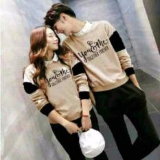 Beli H Shico Sweater Couple You Me Forever Cream Sweater Pasangan Sweater Online