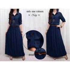 Toko Hsnfashion Dress Wanita Lisa Longdress Trendy Longdress Cantik Long Dress Casual Indonesia