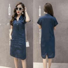 HSNFashion Dress Wanita Tiye - Biru // Dress Trendy // Dress Murah // Dress cantik