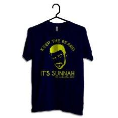 Harga Hujjah Kaos Islam Muslim Lengan Pendek Keep The Beard Biru Dongker Design Kuning Origin