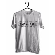 Hujjah Kaos Islam/ Muslim Pria dan Wanita – Uwais – Putih – Sablon Hitam