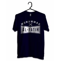 Beli Hujjah Kaos Islam Muslim Pria Dan Wanita Al Fatih Kaos Biru Dongker Sablon Putih Cicilan