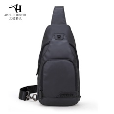 Hunter in North Pole 2016 new style of recreational packet canvas to man recreational list shoulder the inclined Ku wrap oxford cloth chest to wrap male pack - intl