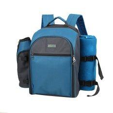 Huolala Yuu Derajat YODO Empat Piknik Shoulder Bag 22L Portable Outdoor Piknik Cutlery Pack Ice Equipment Custom Model-Abu-abu (Intl) -Intl