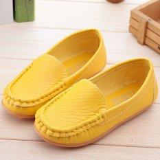 I02 Kuning Model Sepatu Anak Laki-laki Panas Cewek Imut Kulit Sepatu Was The Only One Karet Datar Rivet Ukuran: 21-30