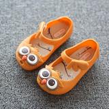 Spesifikasi I75 Musim Baru Panas Gadis S Cute Owl Ankle Strap Hasp Anak Anak Anak Anak Lembut Jelly Flats Sandal Sepatu Warna Orange Intl Lengkap Dengan Harga