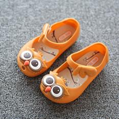Jual I75 Musim Baru Panas Gadis S Cute Owl Ankle Strap Hasp Anak Anak Anak Anak Lembut Jelly Flats Sandal Sepatu Warna Orange Intl Original