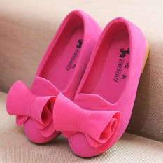Beli I77 Fashion 1 Pair Cute Baby G*rl S Child Princess Toddler Kids Velvet Bow Flat Student Shoes Color Rose Intl Pakai Kartu Kredit