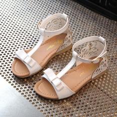 Dapatkan Segera Ibelieve Kid Fashion Musim Panas Datar Tumit Sepatu Bayi Perempuan Terbuka Jempol Sandal Sepatu Pesta Gaun Putih Ukuran 23 Intl
