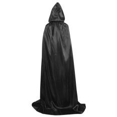 Ibelieve Uniseks Masque Cosplay Kematian Hoody Jubah Penyihir Vampir Cape Gothic Jubah Halloween Fantasia Mewah Kostum Karnaval (#1) -Internasional