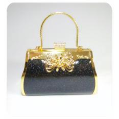 IdolaBags - Tas Pesta Clutch Handbag Besar Wanita Farnell Import Ori bahan Glitter-glossy