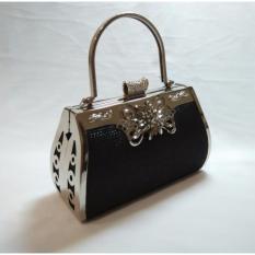 Idolabags Tas Pesta Clutch Handbag Besar Wanita Farnell Ori Bahan Glitter Farnell Diskon 40