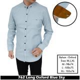 Model Ifh 762 Kemeja Polos Lengan Panjang Oxford Biru Langit Biru Muda Biru Terang Terbaru