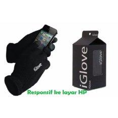 iGlove Touch Gloves for Smartphones & Tablet Sarung Tangan Motor Touchscreen Responsif di Layar HP - Hitam