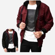 IGS Jaket Sweater Parasut Hodie Bolak Balik Fashion Pria Termurah