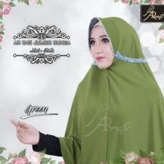 ijab instan Arrafi Talita Jumbo B (warna Green) Ar45J jilbab kerudung syari jumbo bergo khimar