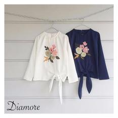 Harga Diamore Top Navy Blouse Cantik Blouse Murah Blouse Wanita Original