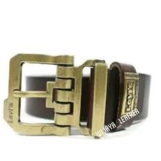 Spesifikasi Ikat Pinggang Gesper Kulit Pria Unik Gold And Brown By Wijaya Leather Baru