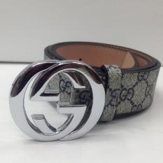 Jual Ikat Pinggang Premium Leather Gg Blue Silver Di Dki Jakarta