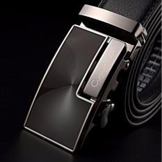 Ikat Pinggang Pria Belt Sabuk Gesper Metal Buckle Kulit CK003 - Hitam
