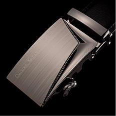 Ikat Pinggang Pria Belt Sabuk Gesper Metal Buckle Kulit CK005 - Hitam