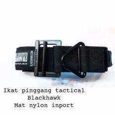 Ikat Pinggang Tactical BlackHawk Nylon Impor Premium - Hitam
