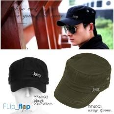 ... Militer Army Komando Camouflage Flat Cap s3935 - Hitam Terbaru. Source · Import Hat/ Cap Korean Fashion, Topi Pria - Wanita Jeep,