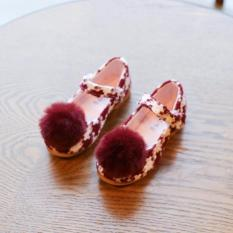 Diskon Import Sepatu Pom Pom Anak Perempuan Maroon Imported From China
