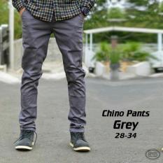 IMPRESIF Celana chino pria slim fit Impresif / Malmo - Grey