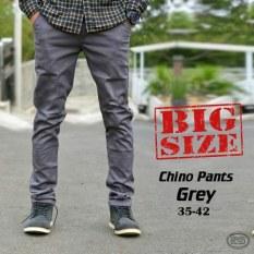 Harga Impresif Celana Pria Chino Panjang Big Size Abu Abu Impresif Jawa Barat
