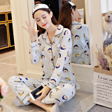 Beli Imut Katun Perempuan Lengan Panjang Olahraga Musim Gugur Katun Baju Tidur Chibi Maruko Chan Set Baru