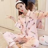 Review Imut Katun Perempuan Lengan Panjang Olahraga Musim Gugur Katun Baju Tidur Merah Muda Strawberry Set Di Tiongkok