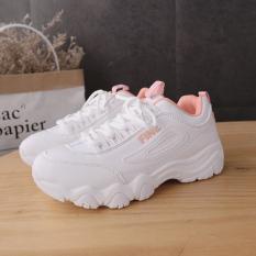 In Korea Fashion Style Super Api Sepatu Wanita Baru Sepatu Sneakers (Merah Muda)